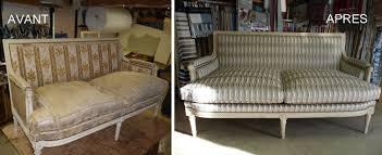 vieux canapé restauration fauteuil canapé tapissier décorateur hervé letilly