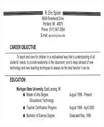 Sample Objective Resume Here Example In For Fresh