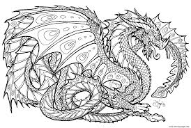 Realistic Dragon Chinese Coloring Pages