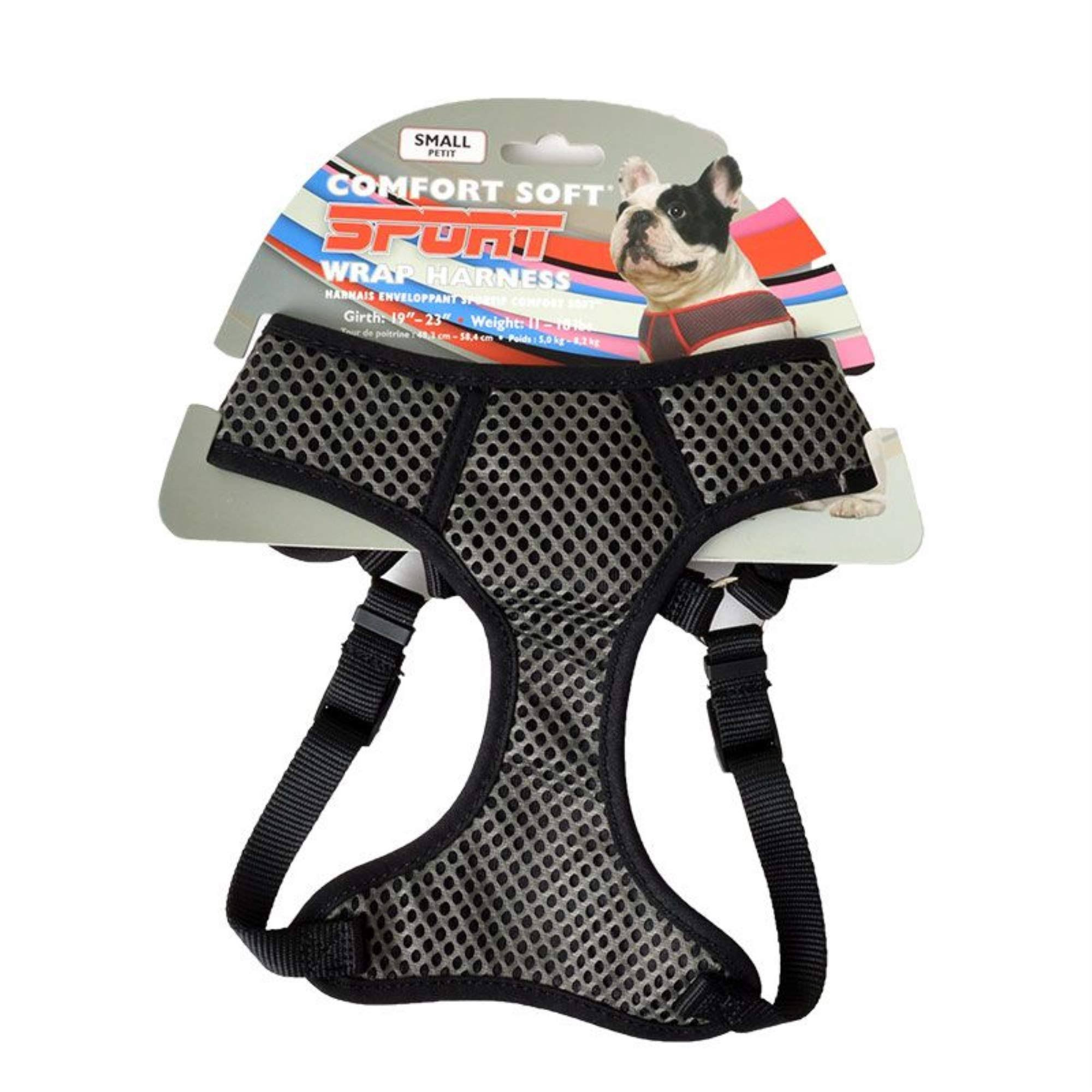 Coastal Pet Sport Wrap Dog Harness - Black, Small