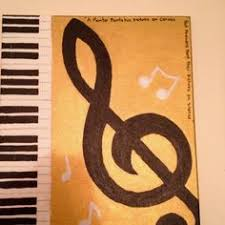 A Canvas I Painted Of My Favorite Music Note
