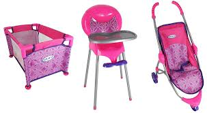 Doll Furniture Baby & 18 Inch Cribs High Chairs & More Toys