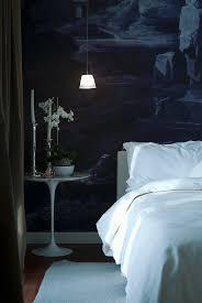 weiße möbel vor dunkler tapete im bild kaufen 12316044