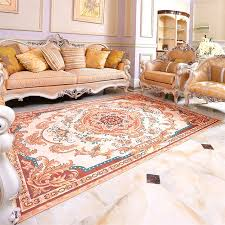 Luxury Carpet Europe Classic Sofa Carpets Polyester Fabric Rug For Liivng Room Modern Rugs Floor