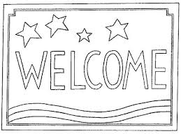Welcome Mat Coloring Page Sketch