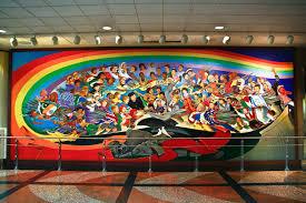 Denver International Airport Murals New World Order by The Denver International Airport The New World Manifesto