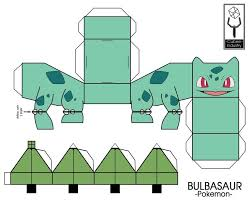 28 Images Of Pokemon Cube Craft Printable Template