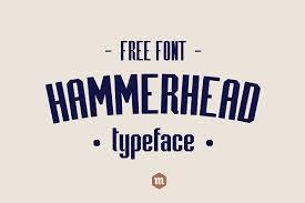 Hammerhead Typeface Sans Serif Fonts Creative Market