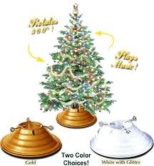 Heavy Duty Rotating Christmas Tree Stand Fancy Gold Metal Inside Stands For