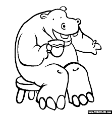 Jungle Animals Online Coloring Pages