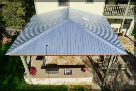 Before and After Patio Cover Metal Roofing Poncha Pass