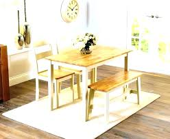Wooden Dining Room Bench Large Table With Benches