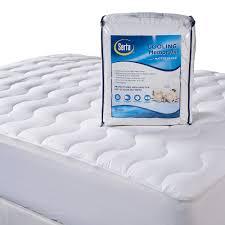 300 thread count cooling memory fiber deep pocket mattress pad