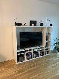 ikea tv wand weiß 183x39x147 cm