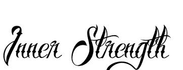 Black Inner Strength Tattoo Design
