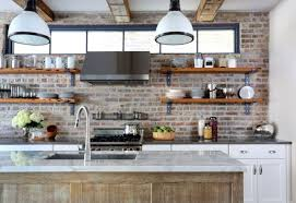 Rustic Wooden Wall Shelves For Small Kitchen Layout With White Granite Countertop Color Using Faucet