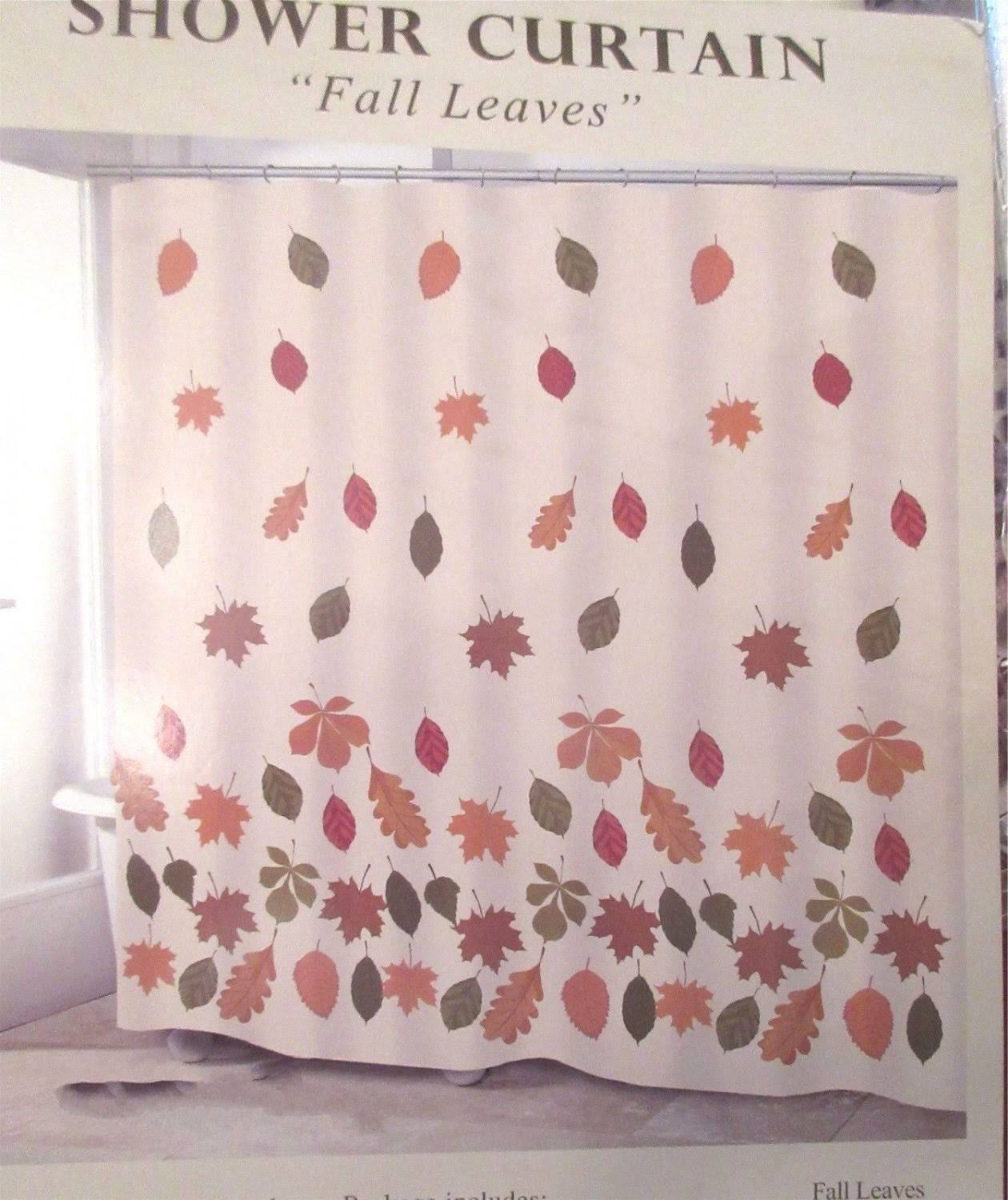 Avanti Autumn Fabric Shower Curtain Fall Maple Leaves