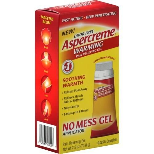 Aspercreme Pain Relieving Gel, Warming, Odor Free - 2.5 oz