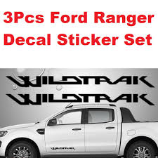 100 Ford Stickers For Trucks Ranger WILDTRACK Sticker Decal For Side Doors And Rear Tailgate Stickers 3pcs