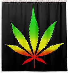 alaza marihuana blatt cannabis duschvorhang 72 x 72 inch