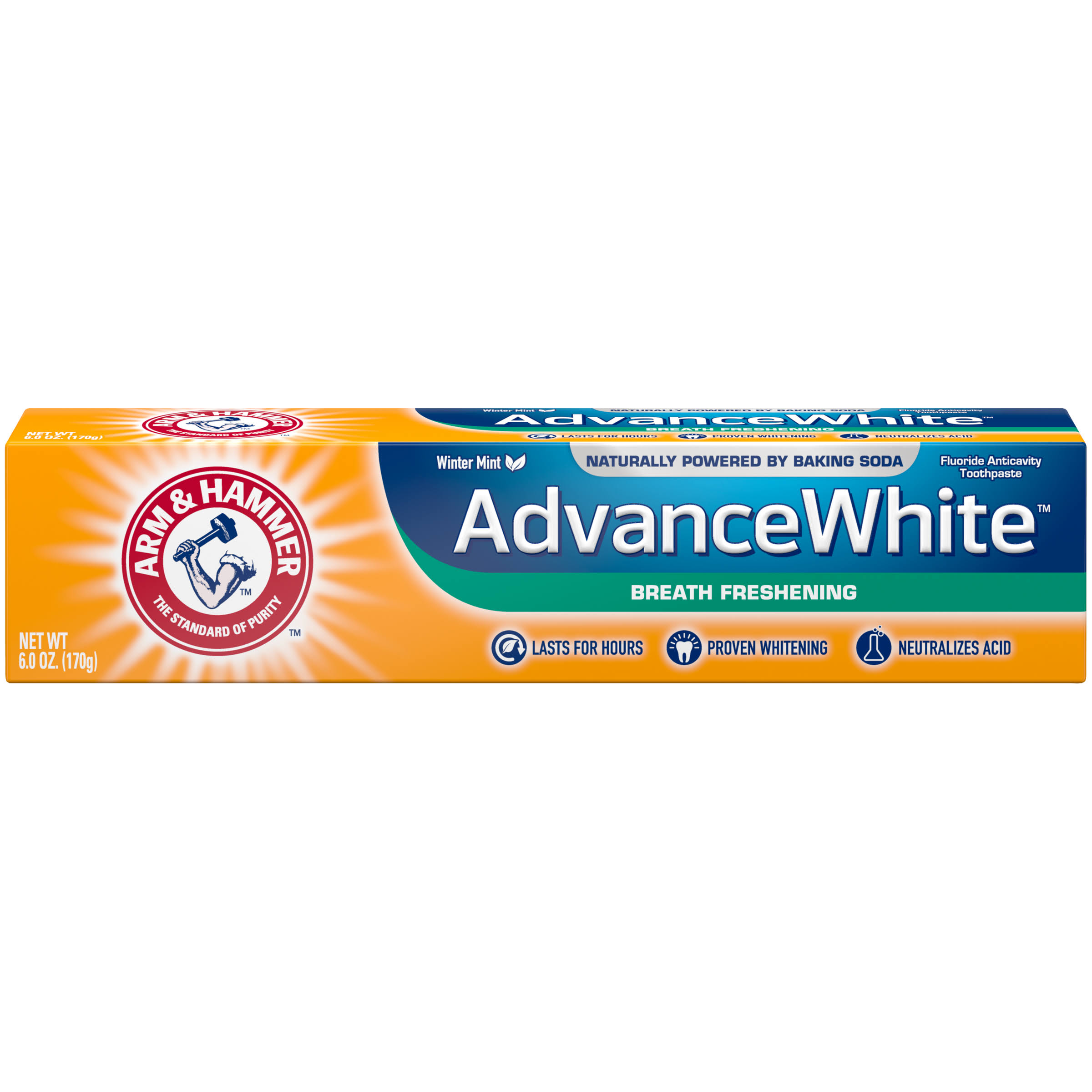 Arm and Hammer Advance White Toothpaste - Baking Soda and Frosted Mint