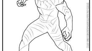 Black Panther Coloring Page Pages Captain