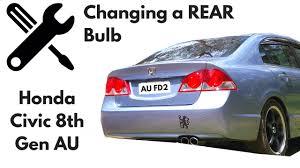 change rear light bulb in a honda civic 2006 8th fd