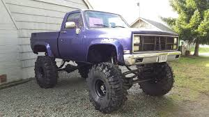 1986 Chevy Short Box On 44 Inch Boggers | Kick Ass Trucks | Trucks ...
