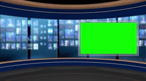 125 Hd News Tv Virtual Studio Green Screen Background Blue Control Room Monitor Motion