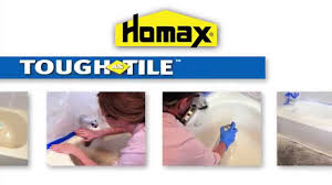 how to apply homax tough as tile tub sink one part epoxy youtube