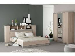 conforama chambre adulte lit 140x190 cm graphic coloris chêne arizona vente de lit adulte