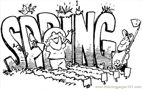 Spring Coloring Page 05 Free Holidays Pages
