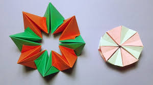 How To Make Easy Origami Magic Circle Paper Fireworks Crafts With Instructions
