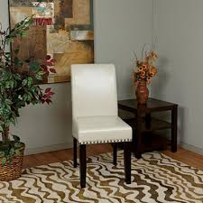 osp designs parsons dining chair with nail heads cream sam s club