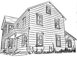 Big Family Houses Coloring Page