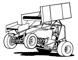 Coloring Pages Of Sprint Cars Wing Less Car Colouring Page