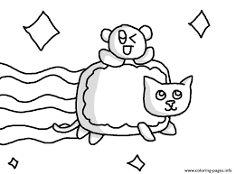 Nyan Cat With Baby Coloring Pages