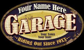 Personalized Garage Sign Garage Signs Vintage Garage Signs