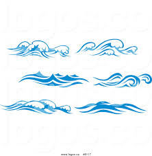 waves clip art black and white
