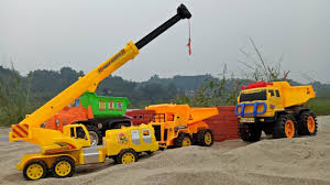 Trucks For Children | Truck Videos And Crane For Kids. - YouTube