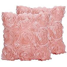 Decorative Couch Pillow Covers by Amazon Com Juanshi Set Of 2 Piece Decorative Rose Throw Pillow