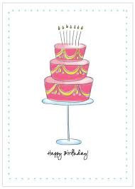 Birthday Card – Birthday Cake Illustration