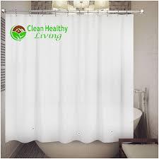 Small Bathroom Window Curtains Amazon by Amazon Com Clean Healthy Living 70x71 Inch Peva Shower Curtain