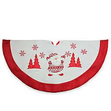 Northlight Santa 36 Inch Tree Skirt In White