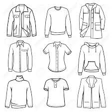 Men S Clothes Set Vector Stock