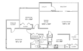 Apartment Blueprint Brilliant On Designs Pertaining To Floor Plans Two Bedroom Apartments In Clifton Park New