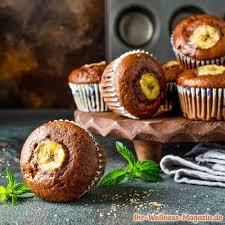 schnelle einfache low carb schoko bananen muffins rezept