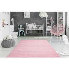 teppich uni teppiche weich gemütlich wohnzimmer pastell rosa hellrosa 80x150cm