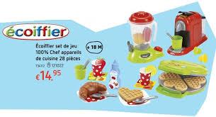 jeux chef de cuisine dreamland promotion écoiffier set de jeu 100 chef appareils de