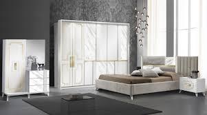 schlafzimmer komplett set beata in weiss gold 5 teilig
